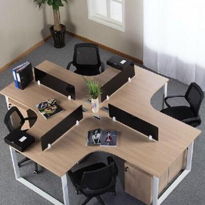 上海办公家具 现代 简约办公桌 职员办公桌 四人组合钢架办公