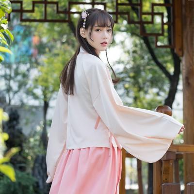 A635批发代发实拍传统汉服女装交领袄裙襦裙刺绣日常中国风女装