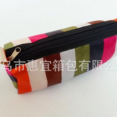 韩国文具三角形条纹笔袋 /创意文具袋/学习文具