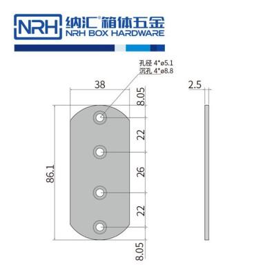 纳汇/NRH7661-80 木材箱包边 通讯器材箱包角 铝箱包边 航空箱包边