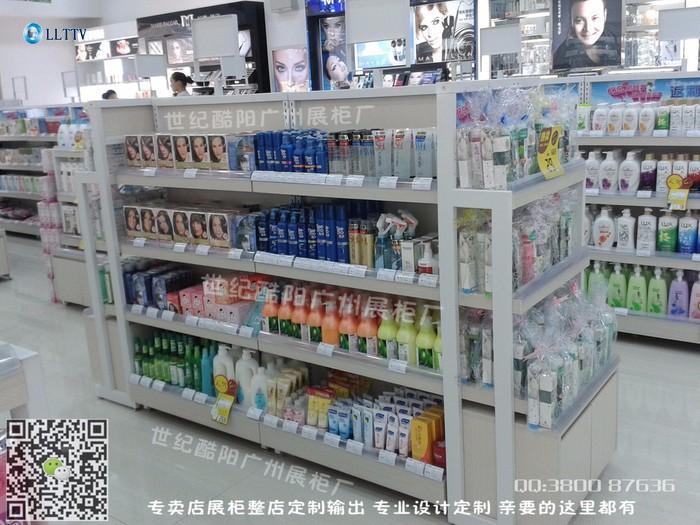 娇兰化妆品专卖店展柜柜台背柜中岛铁架 化妆品连锁专卖店铺装修