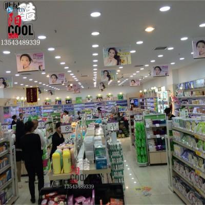 化妆品货架 铁木结合化妆品柜台展示架 化妆品店展柜货柜货架背柜