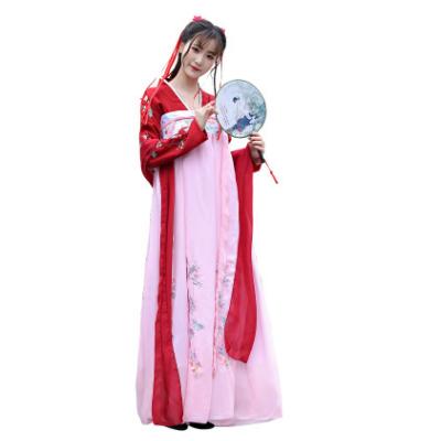 会员价132元汉服女成人刺绣对襟齐胸襦裙改良古装中国风复古日常高腰套装